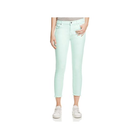 7 For All Mankind Womens Roxanne Denim Raw Hem Colored Skinny Jeans 7 For All Mankind Jeans Roxanne