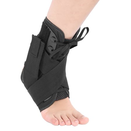 WALFRONT Ankle Brace, 1PC Adult Breathable Orthosis Ankle Brace Support Protection Corrector Sprain Arthritis Recovery Brace Black
