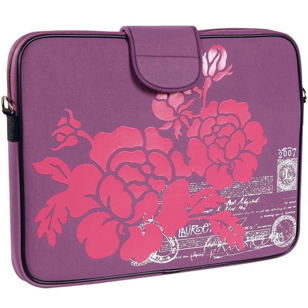 "17"" Laptop Sleeve in Purple Hibiscus"