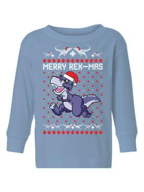 Awkward Styles Ugly Christmas Long Sleeve Shirt for Boys Girls Toddler Merry Rexmas Xmas Shirt