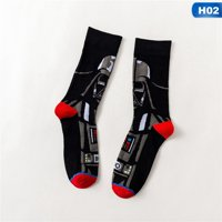 AkoaDa 1 Pair Unisex Star Wars: The Rise of Skywalker Crew Socks, Colorful Funny Novelty Dress Socks Art Socks(12 Pair)