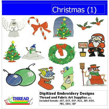ThreadArt Machine Embroidery Designs Christmas Version 1 CD ()