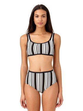 09c50e2cf5ba2 Product Image Studio Anne Cole Women's Beach Bound Pique Stripe Bralette Swim  Top