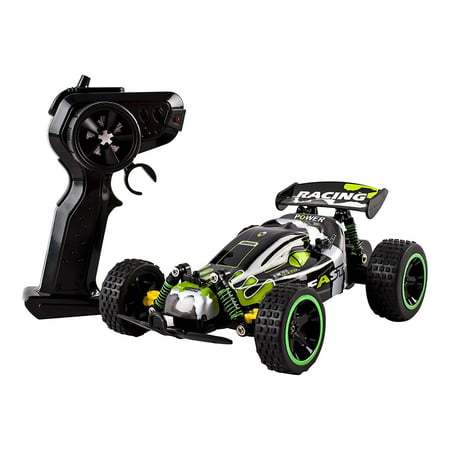 Speed Power RC Buggy 2.4Ghz 1:18 Scale Remote Control Ready to Run With Indoor Outdoor And Off-Road Suspension Strong Build Toy (1/8 Scale Buggy Tire)