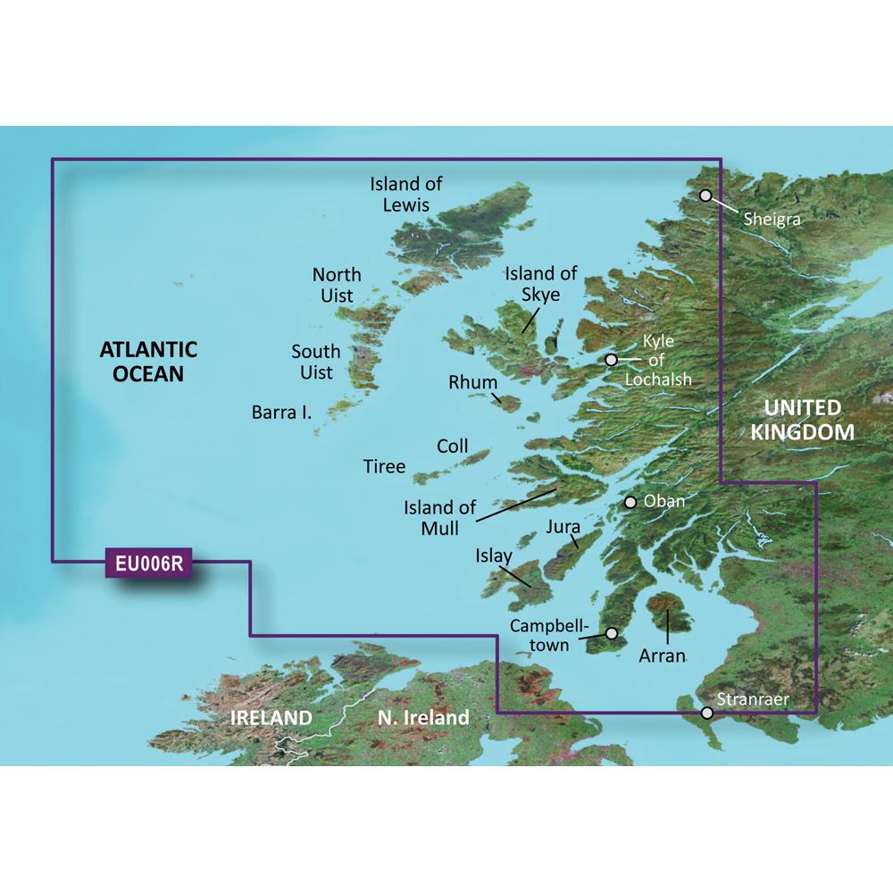 Garmin VEU006R SCOTLAND WEST COAST BLUECHART G2 VISION