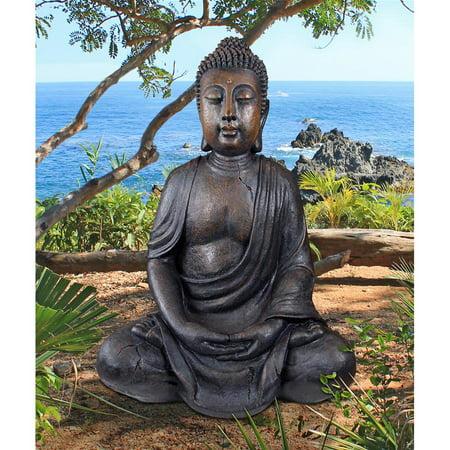 Design Toscano Meditative Buddha of the Grand Temple Garden Statue: Large ()