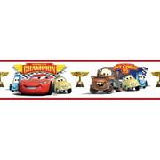 Wallhogs Disney Cars Piston Cup Champion Room Border Wall Mural