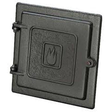Cast Iron Clean Out Door-8 x 8 An 8 x 8 Cast Iron Clean Out Door allows debris to be swept and removed that has collected in the chimney. USA made.Easy to installAllows debris to be swept and removed that has collected in the chimneyCast iron8 x 8