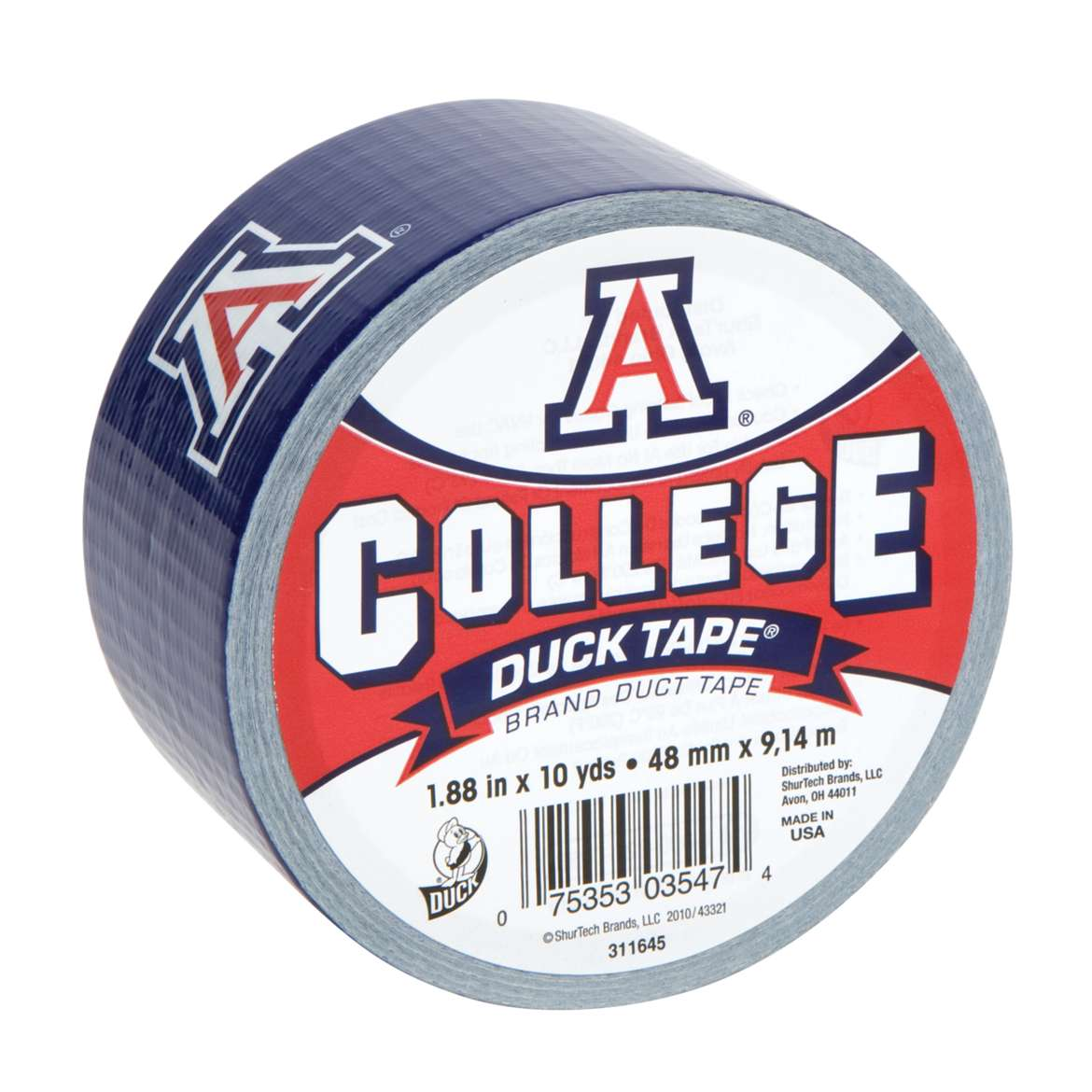 Duck Brand College Logo Duct Tape, 1.88 in. x 10 yds., Arizona