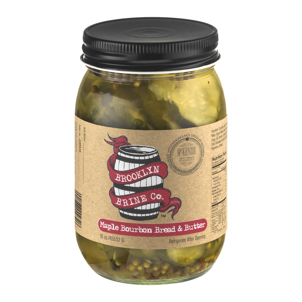 Brooklyn Brine Co. Maple Bourbon Bread & Butter Pickle Chips, 16.0 OZ