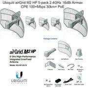 Ubiquiti AG-HP-2G16 airGrid M2 HP 5-pack 2.4GHz 16dBi Airmax CPE 100+Mbps 30km+