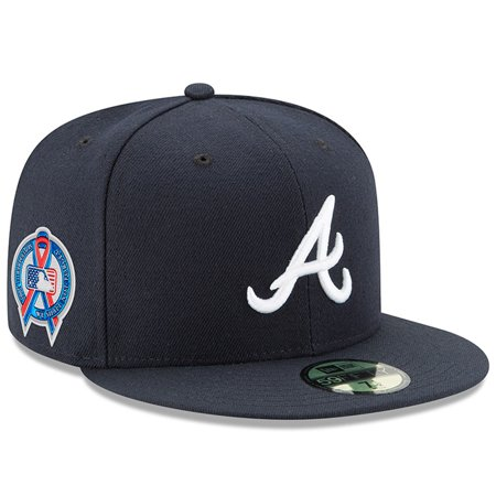 72da1e1fbb1 Atlanta Braves New Era 2018 9 11 Authentic Collection 59FIFTY Fitted Hat -  Navy - Walmart.com