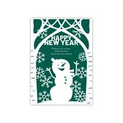 Personalized Holiday Card - Joyful Snowman - 5 x 7 Flat