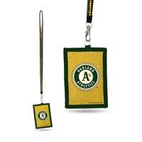 Oakland Athletics MLB Lanyard with Nylon Wallet