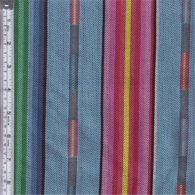 Textile Creations PB-131 Pueblo, Stripe With Dobby Light & Blue Pink Yellow