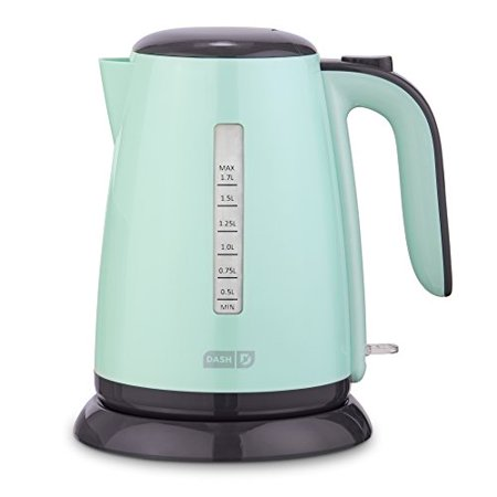 Dash DEZK003AQ Easy Electric Kettle + Water Heater with with Rapid Boil, Cool Touch Handle, Cordless Carafe + Auto Shut off for Coffee, Tea, Espresso & More, 57 oz. / 1.7L, Aqua