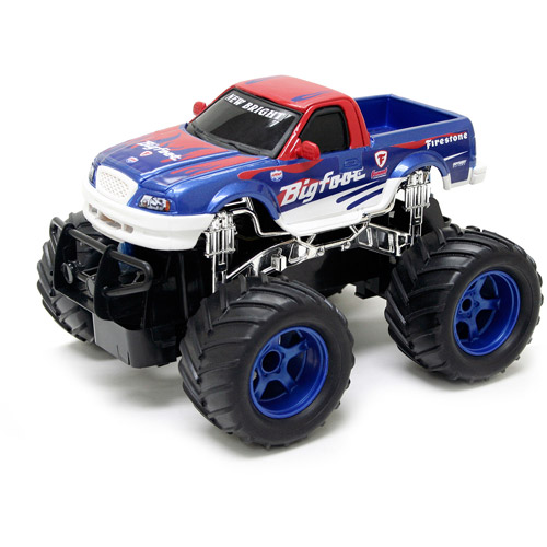 """New Bright 7"""" R/C Monster Truck Big Foot Classic, Red, White and Blue"""