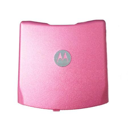 Gsm Battery Door - OEM Motorola RAZR V3 GSM Sandard Battery Door - Pink (AT&T Logo)