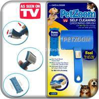 PetZoom Self Cleaning Grooming Brush with Bonus Pet Trimmer Large Pet Dog Brush