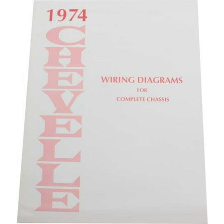dave graham 74-wdch 1974 chevelle wiring diagrams - walmart.com  walmart
