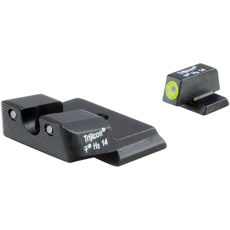 Trijicon HD Tritium Night Sight, Fits S&W M&P Shield, Yellow Outline by Trijicon