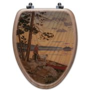 WGI-GALLERY Song of the North Oak Elongated Toilet Seat