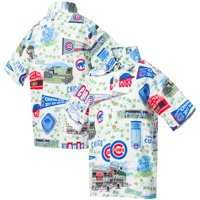 Chicago Cubs Reyn Spooner Youth Scenic Button-Up Shirt - White