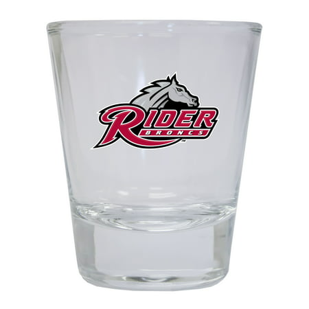 Rider University Broncs Round Shot Glass (Bronc Rider Concho)