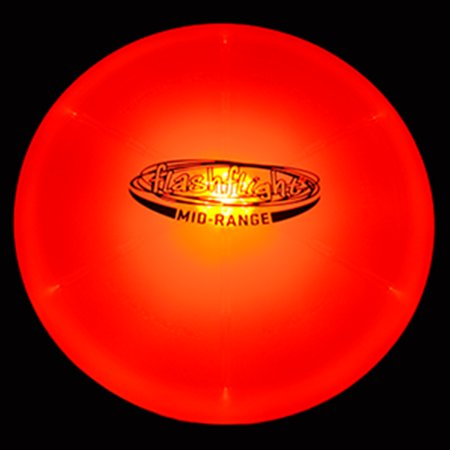GlowCity Night Play Glow In The Dark LED Flying Disc For Disc Golf - Putter