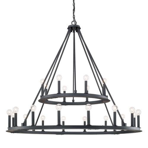 Laurel foundry modern farmhouse shayla 24 light candle chandelier
