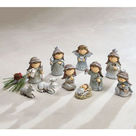 Burton & Burton Nativity Silver Children Set - Child Nativity Set