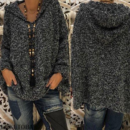 (Fashion Women Long Sleeve Tops Sweater Knitwear Winter Warm Pullover Jumper Coat Hot Sale)