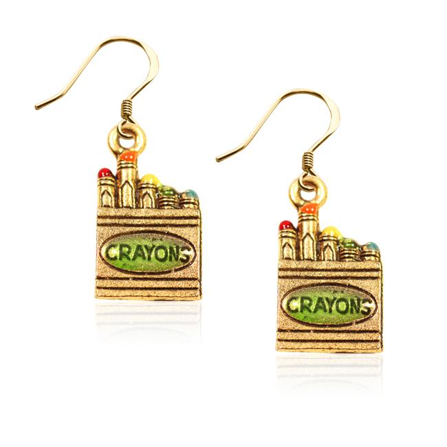 Whimsical Gifts 1752G-ER Crayons Charm Earrings in Gold - image 1 de 1