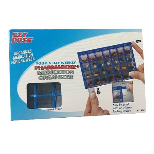 Ezy Dose Pharmadose Medication Organizer, With Locking Device - 1 Ea