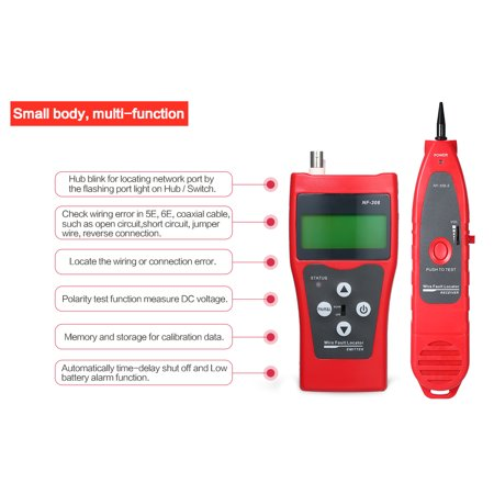 Multi Functional Lcd Network Cable Tester High Line Finder Coaxial Line Tester Rj11 Rj45 Wire Length Finder With 1 Remote Adapter Walmart Canada