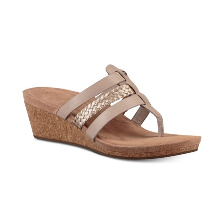 Ugg Womens Maddie Leather Thong Wedges ()