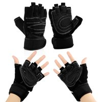 c9a75c12c192 Product Image Workout Gym Half Finger Gloves Weight Lifting Wrist Wrap  Sports Exercise Training Fitness. Product Variants Selector. Black