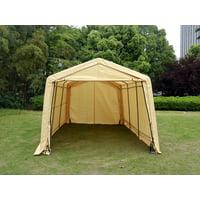 WALCUT Outdoor 10x15x8FT Carport Canopy Tent Car Storage Shelter Garage w/ Sidewall