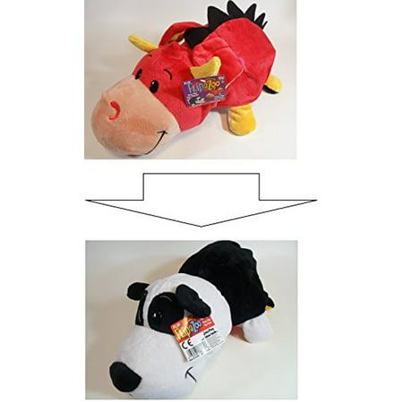 FlipaZoo (PANDA + EMBER DRAGON ) 2-in-1 Stuffed Animal 16