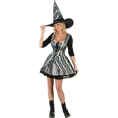 Pink And Black Witch Costume (Witch Gothic Rose Adult Halloween)