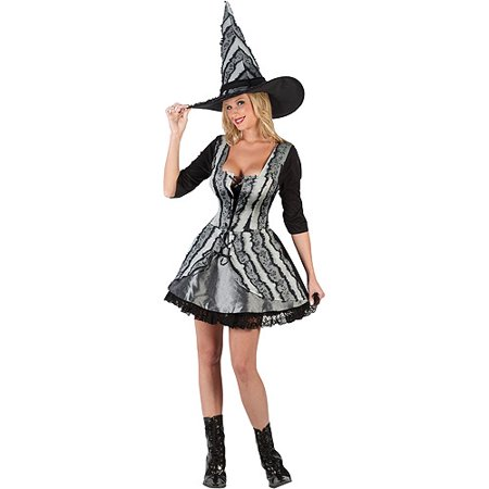 Witch Gothic Rose Adult Halloween Costume (Halloween Perruque Rose)