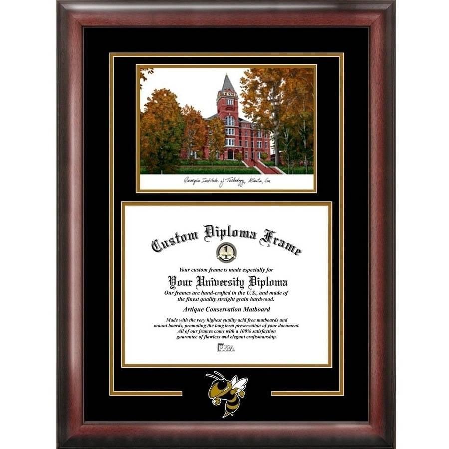 "Georgia Tech Yellow Jackets 14"" x 17"" Spirit Graduate Frame with Campus Image"
