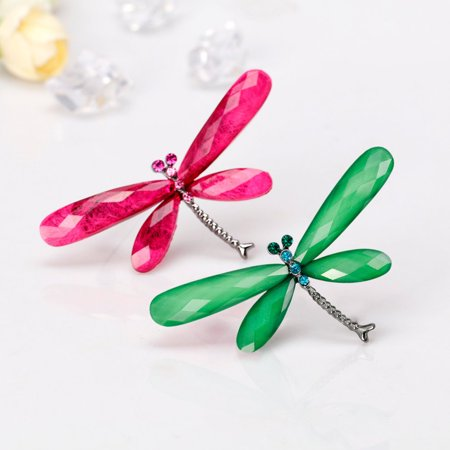 Alloy Dragonfly Accessory Rhinestone Lapel Pin Metal Brooch Jewelry Women Gift - image 6 of 6