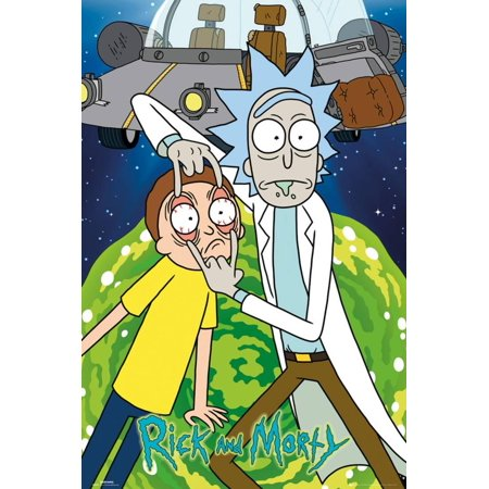 Rick & Morty- Eyes Wide Open Poster - 24x36
