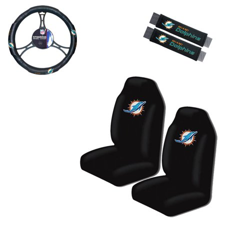 Incredible Miami Dolphins 2 Seat Covers With 2 Shoulder Pads And A Wheel Cover Pabps2019 Chair Design Images Pabps2019Com