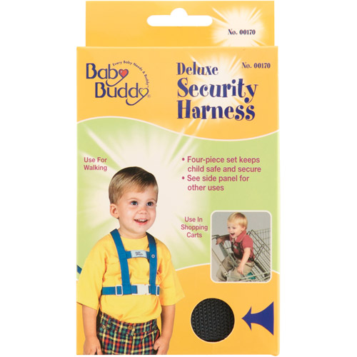 Baby Buddy Deluxe Security Harness with Tether and Chair Straps, 4-Piece, Navy