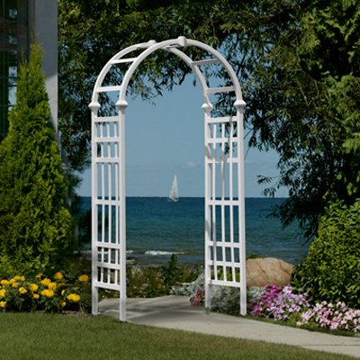 Eden Athens 7-ft. Vinyl Arch Arbor by New England Arbors