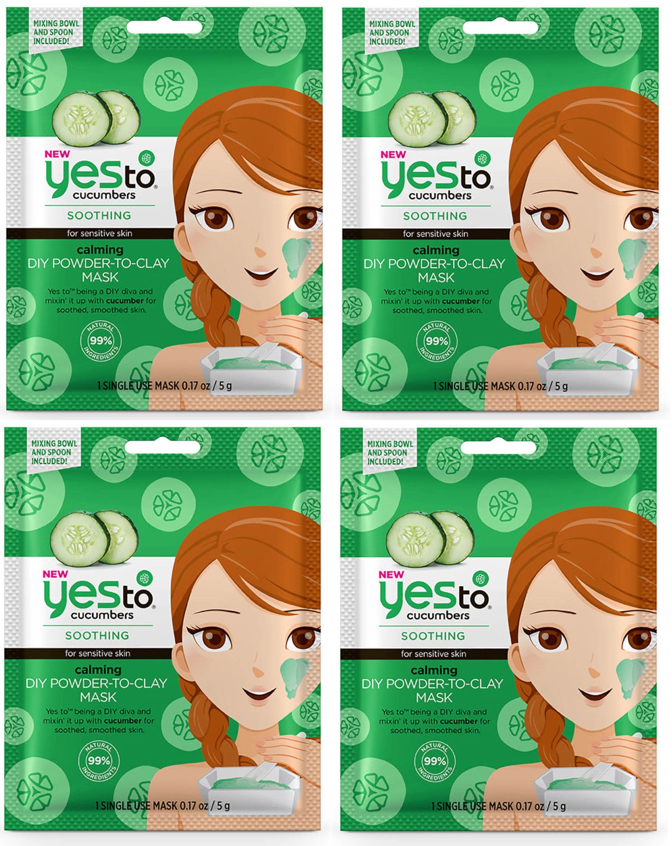 Cucumbers Calming DIY Powder To Clay Mask by yes to #10