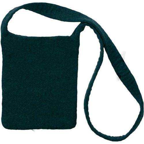 "Feltworks Shoulder Bag 10""X7-1/4""X1""-Black"