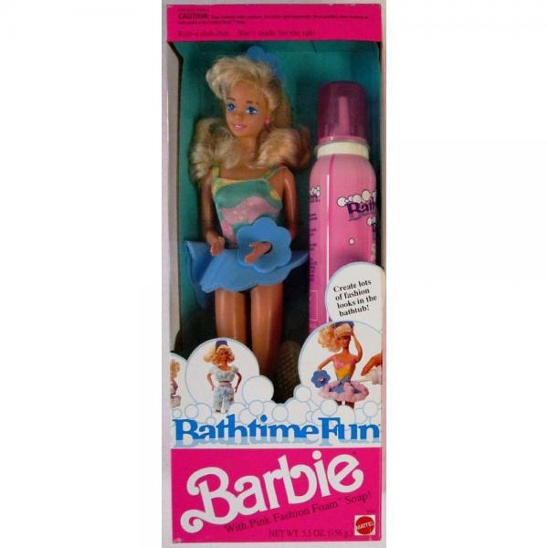 Barbie Bathtime Fun Doll (1990) by Mattel by